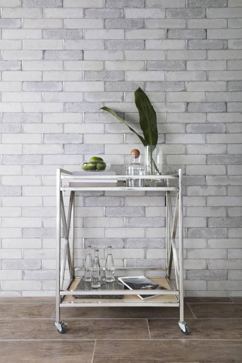 Industrial-style handmade-look brick tile
