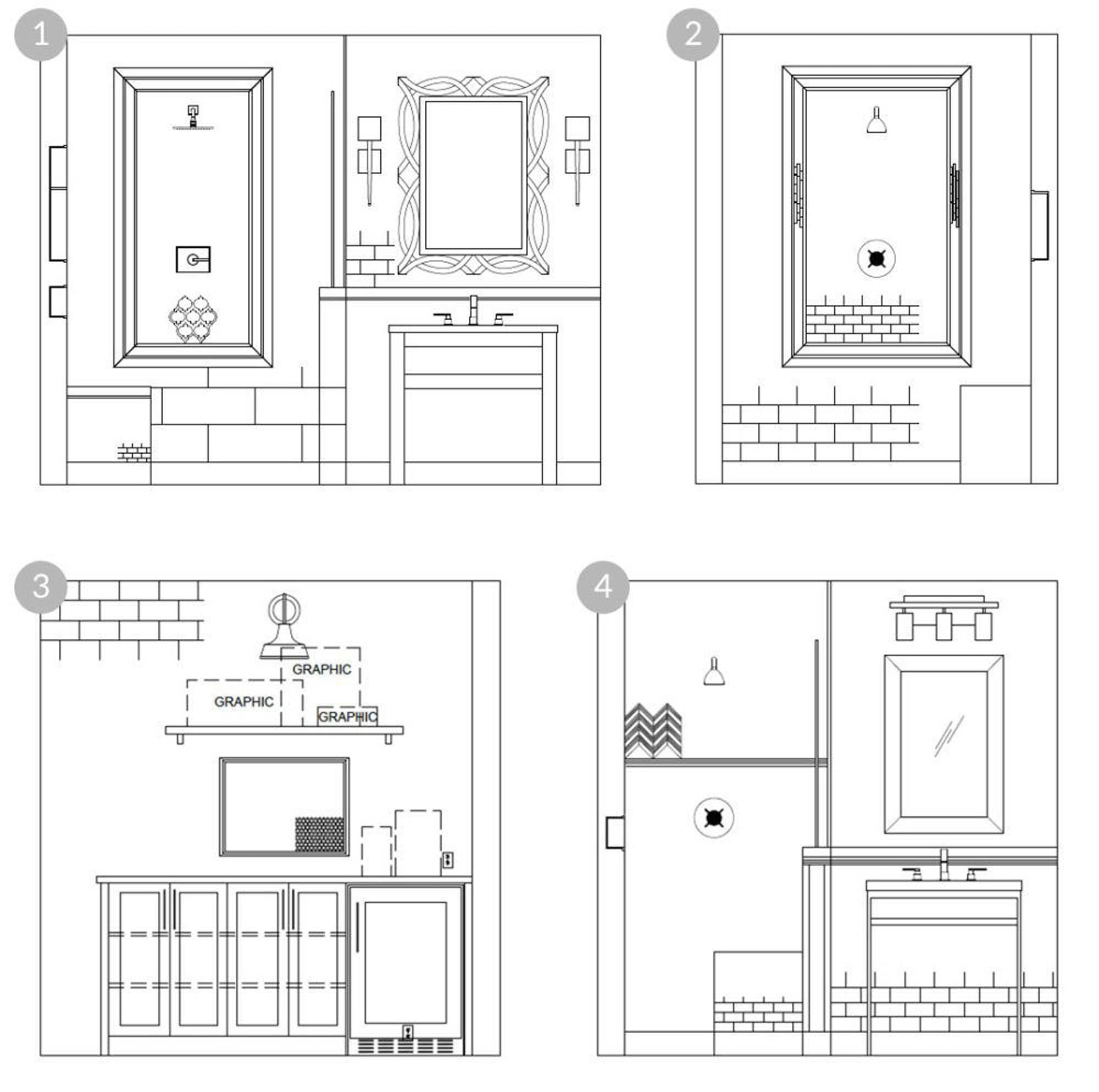 4 design plans that incorporate layering tile