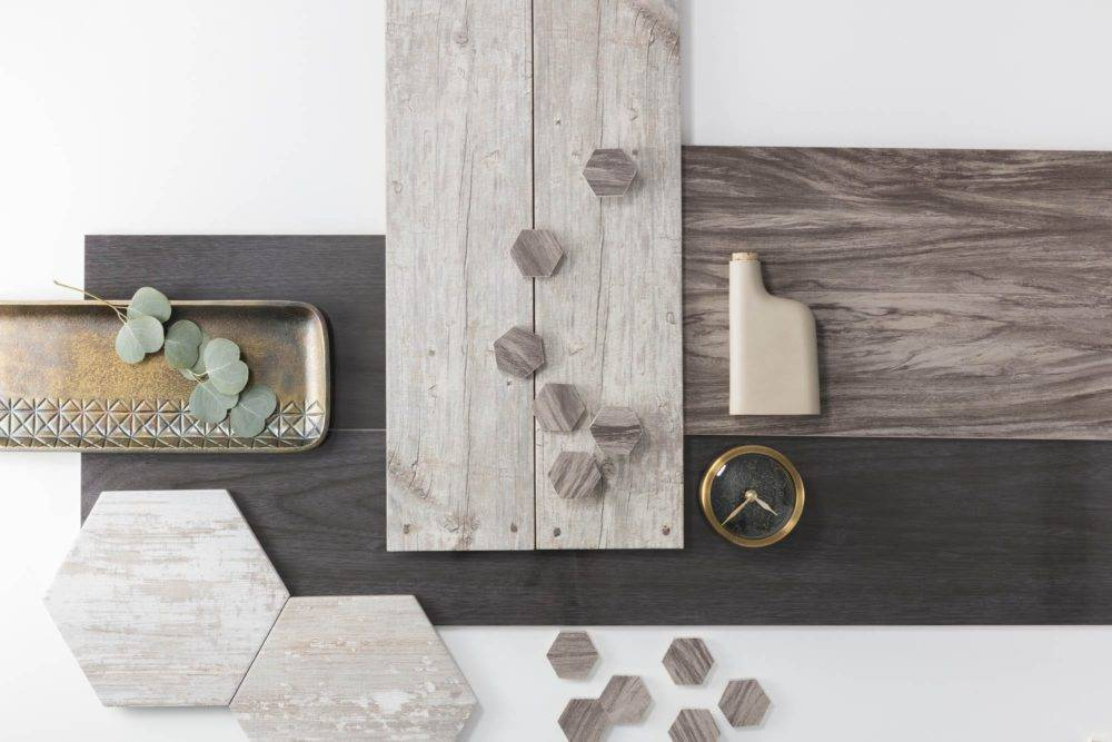 Selection of wood-look tile