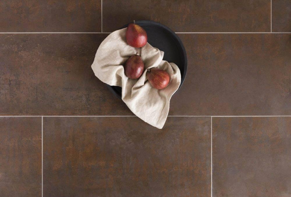 Large-format floor tile.