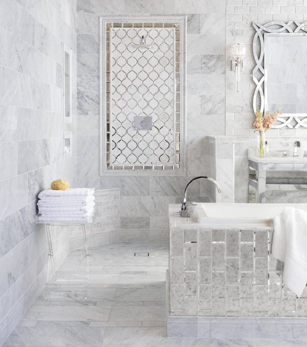Marble and glass bathroom