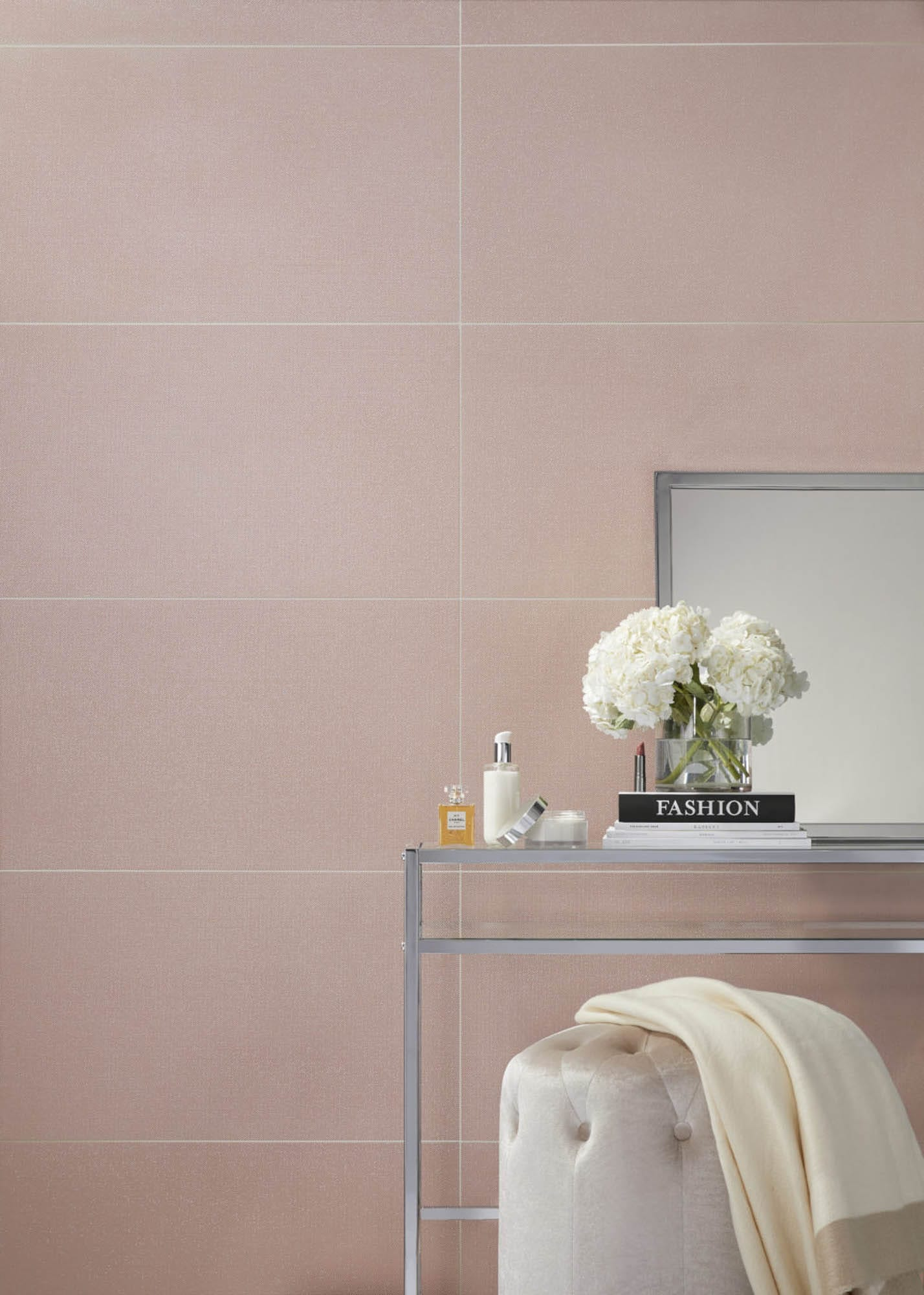 Large pink wall tile