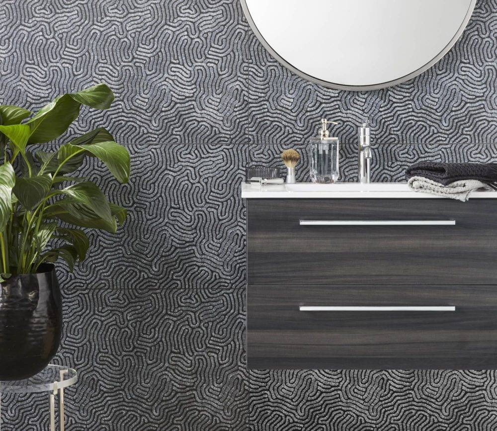 Textured patterned wall tile