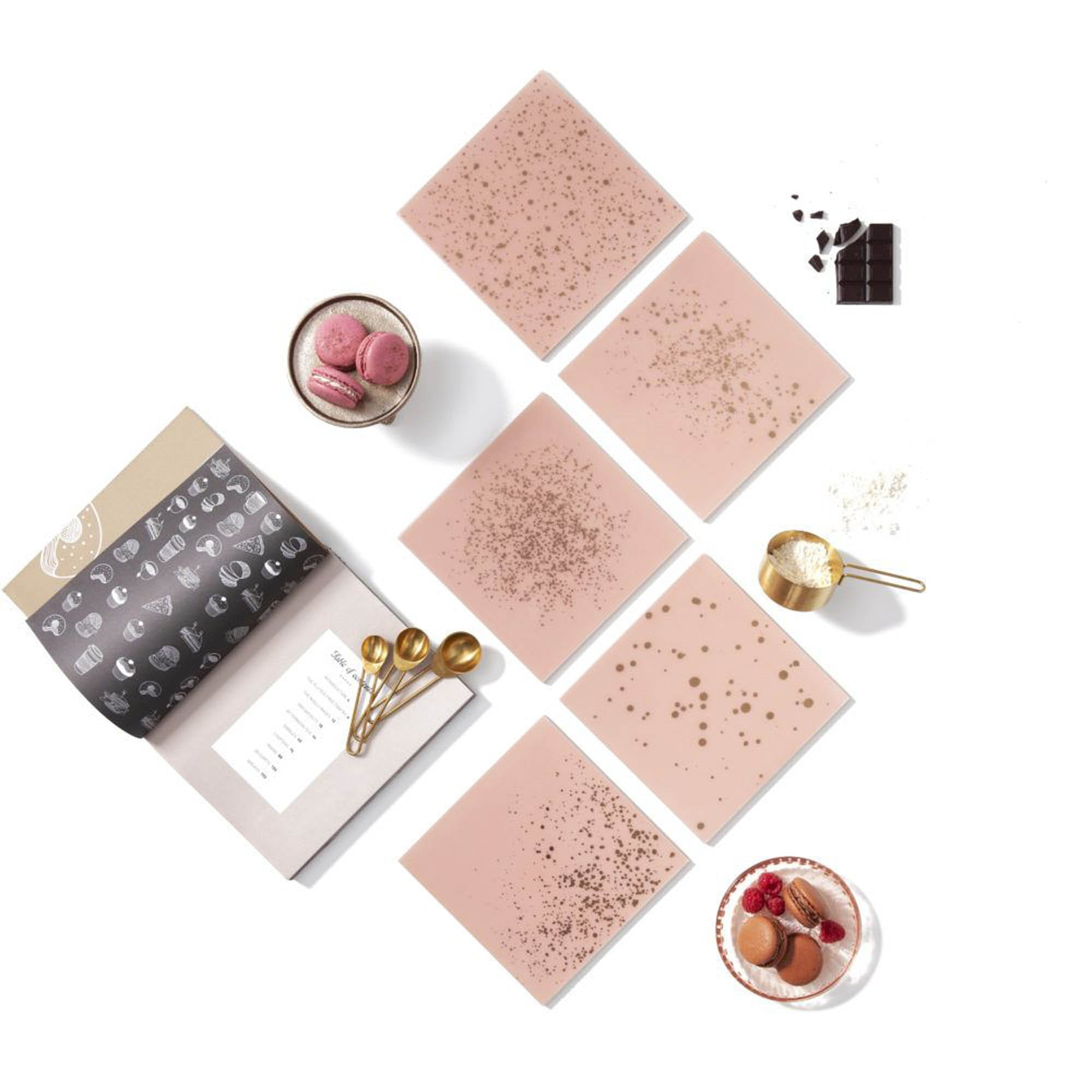 Pink and gold tiles
