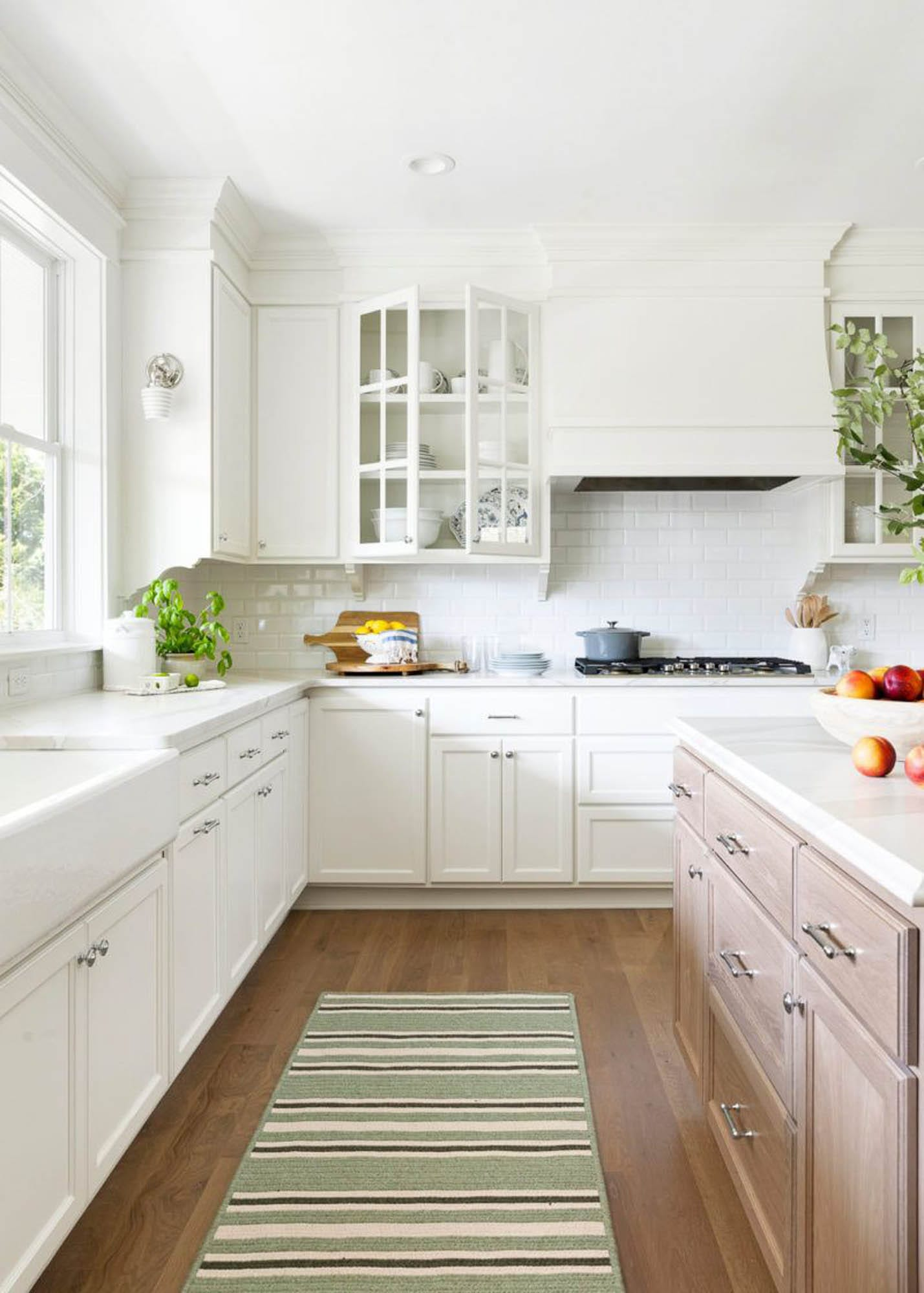 Bright, white kitchen