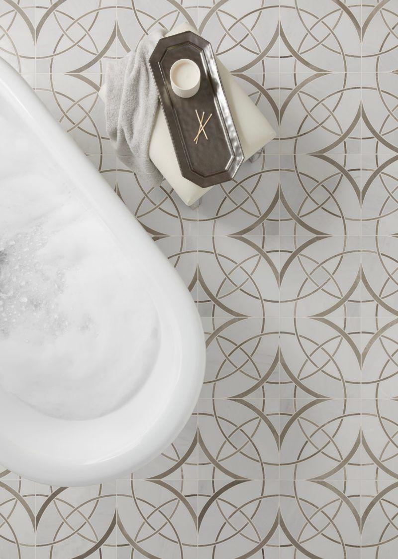 Mosaic floor bathroom tile