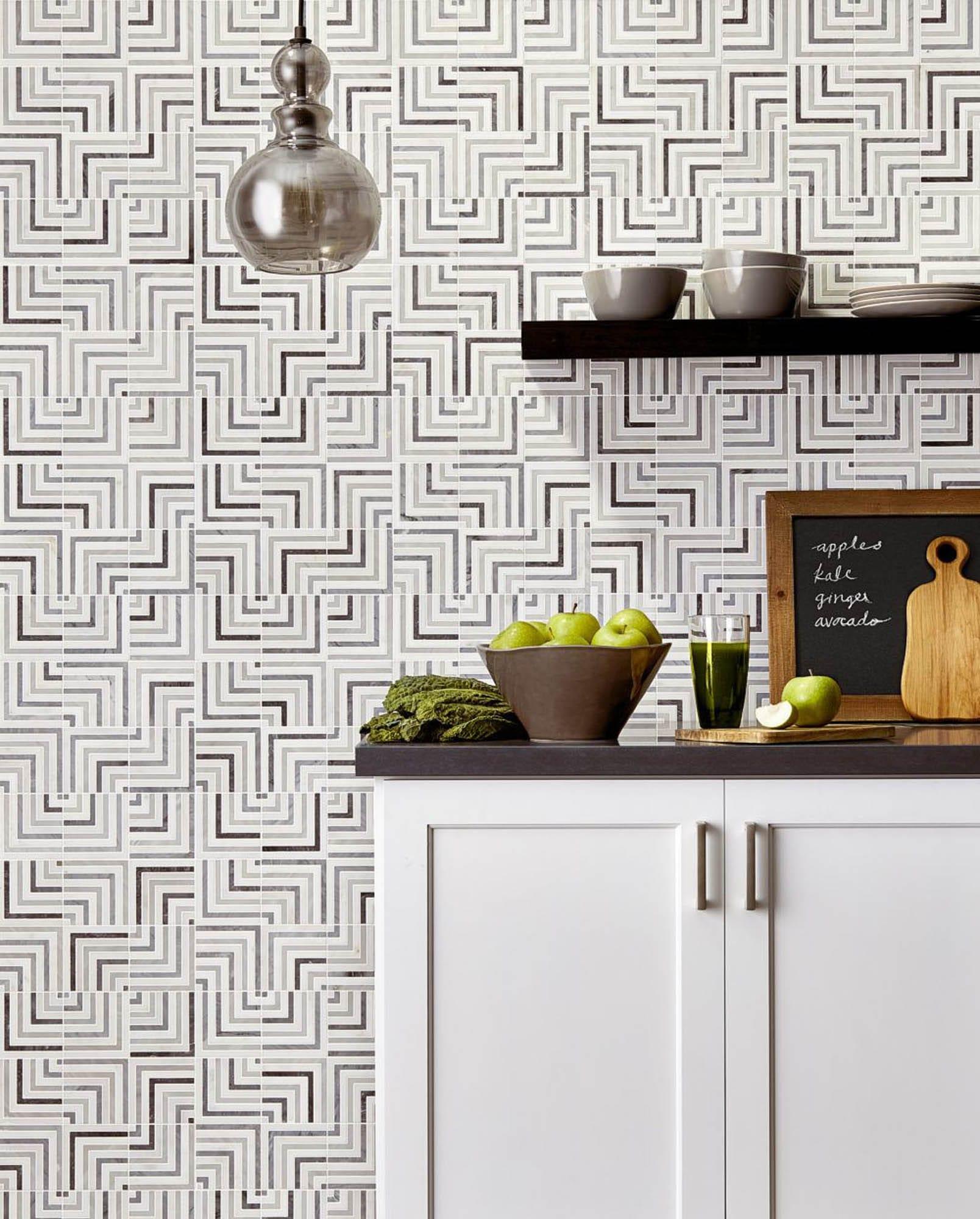 Waterjet mosaic kitchen wall tile