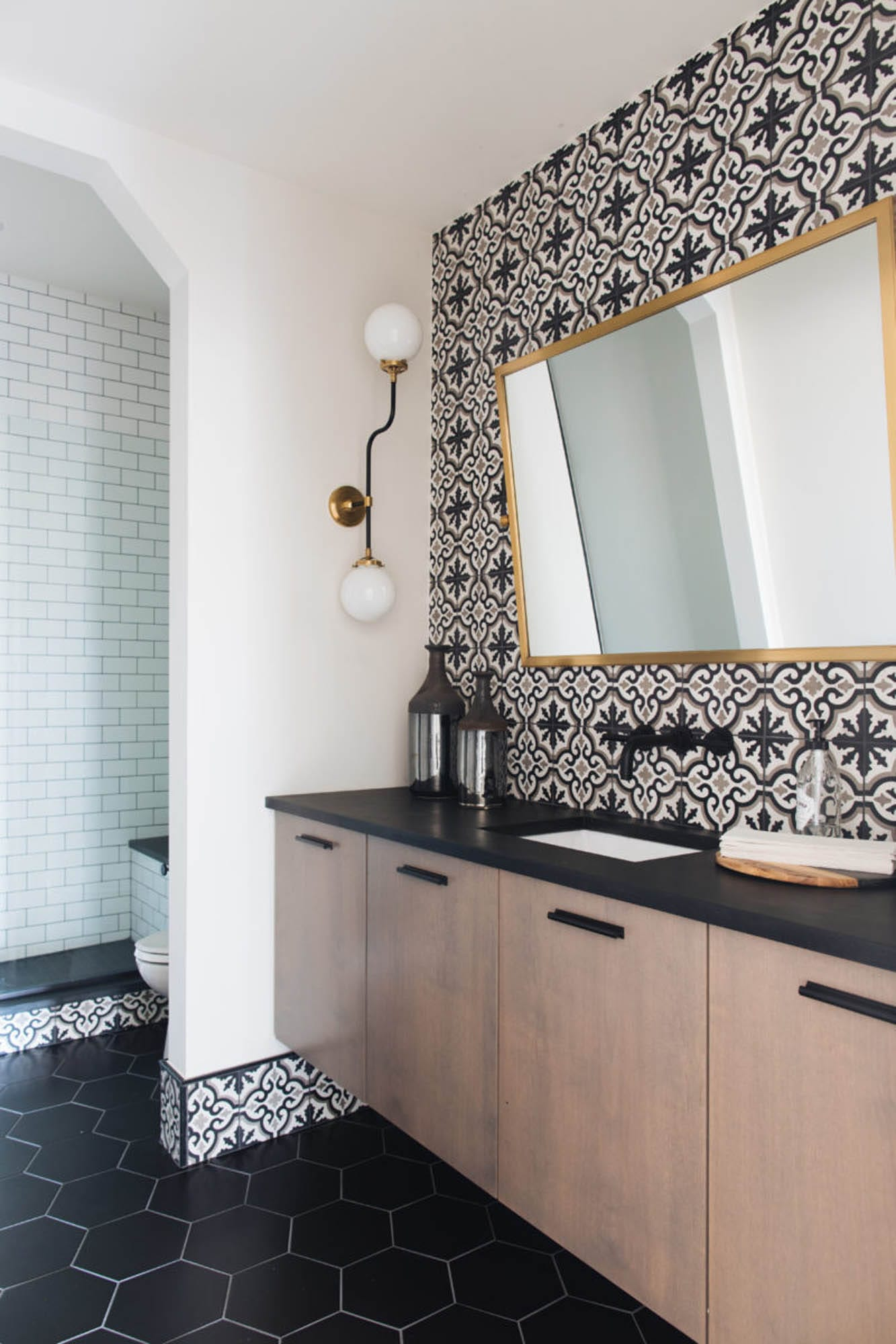 Bathroom with mix of styles