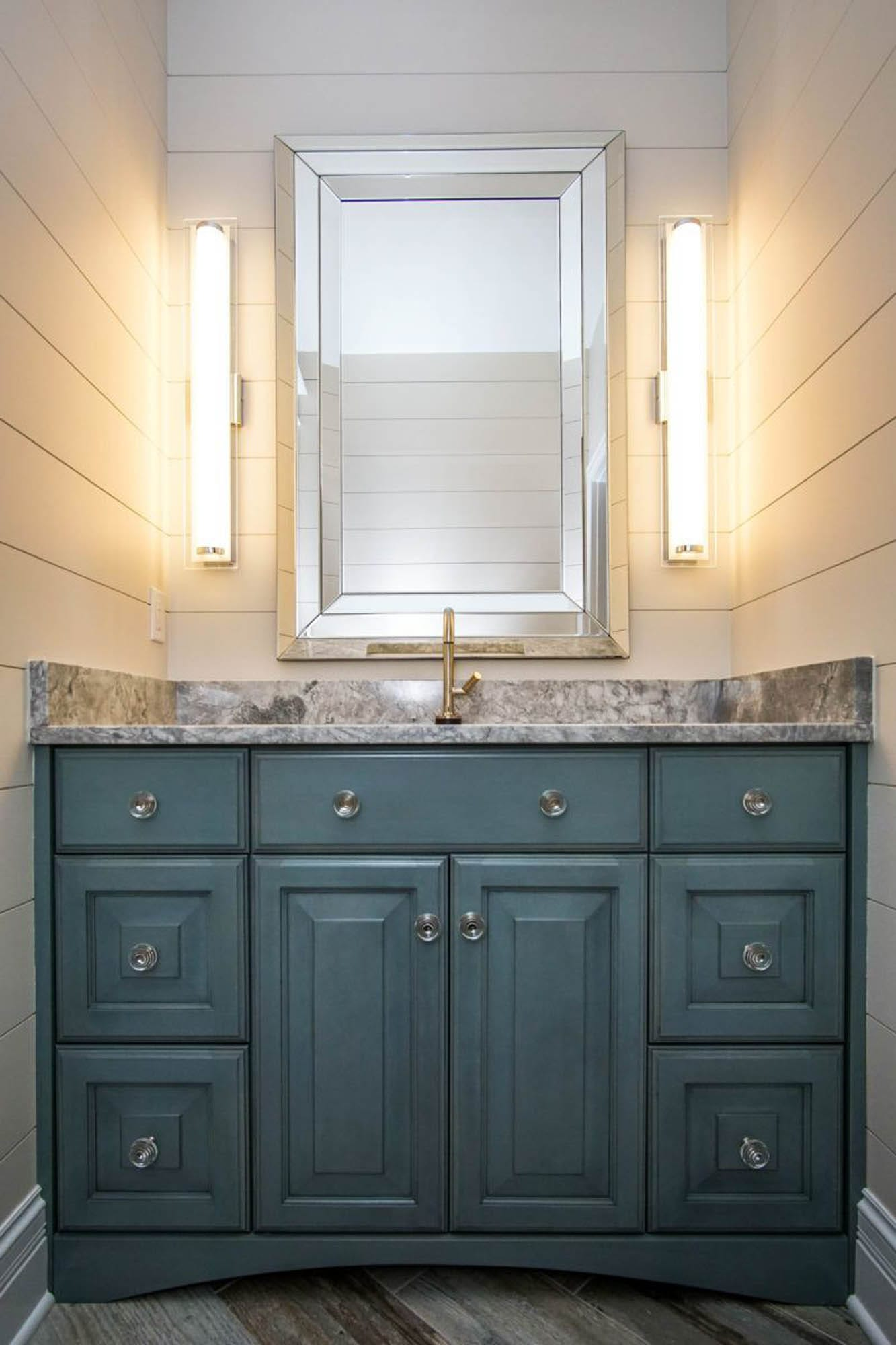 Moody turquoise cabinet