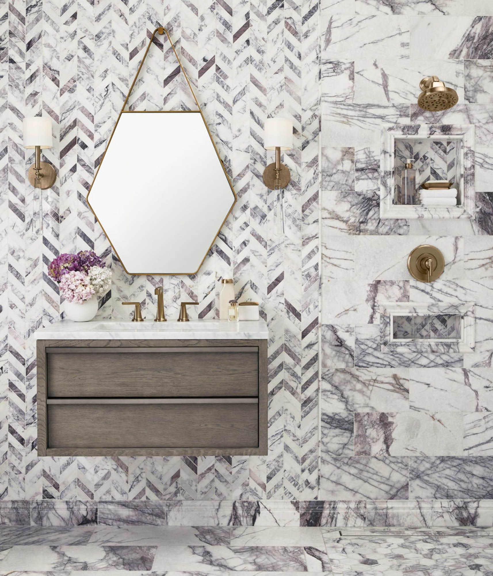 Purple Milas Lilac marble tile