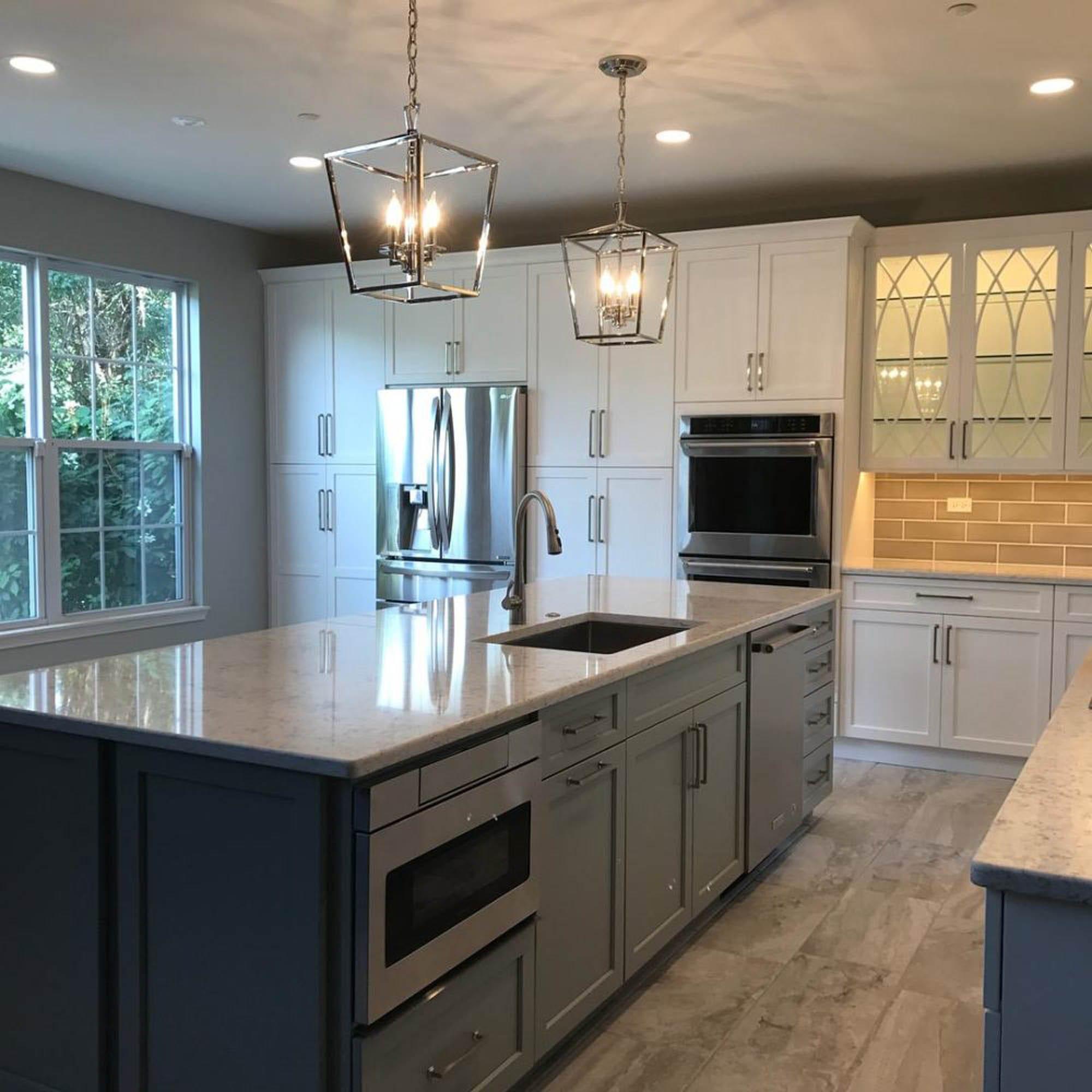 Kitchen backsplash and floor tile