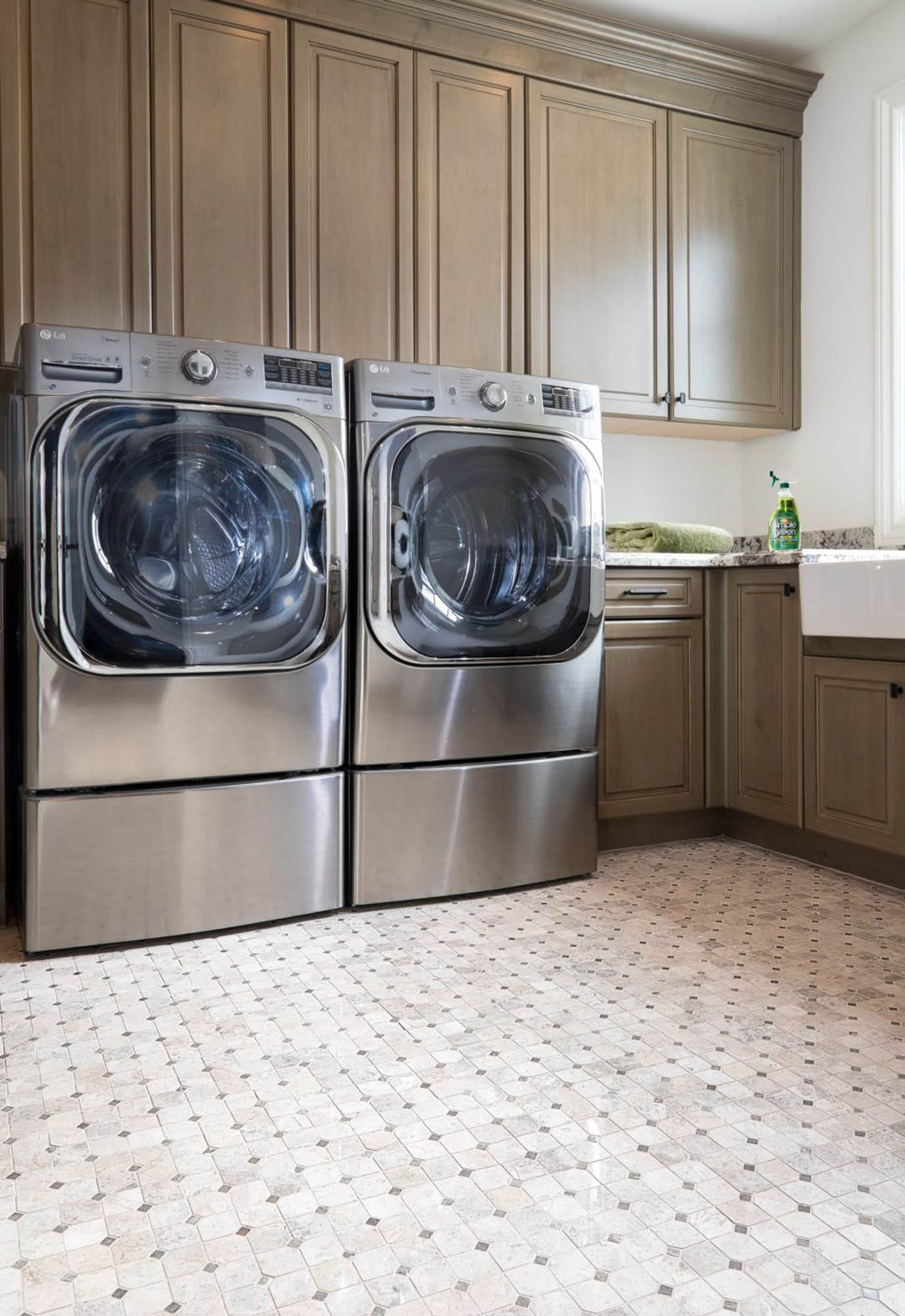 Traditional warm laundry room