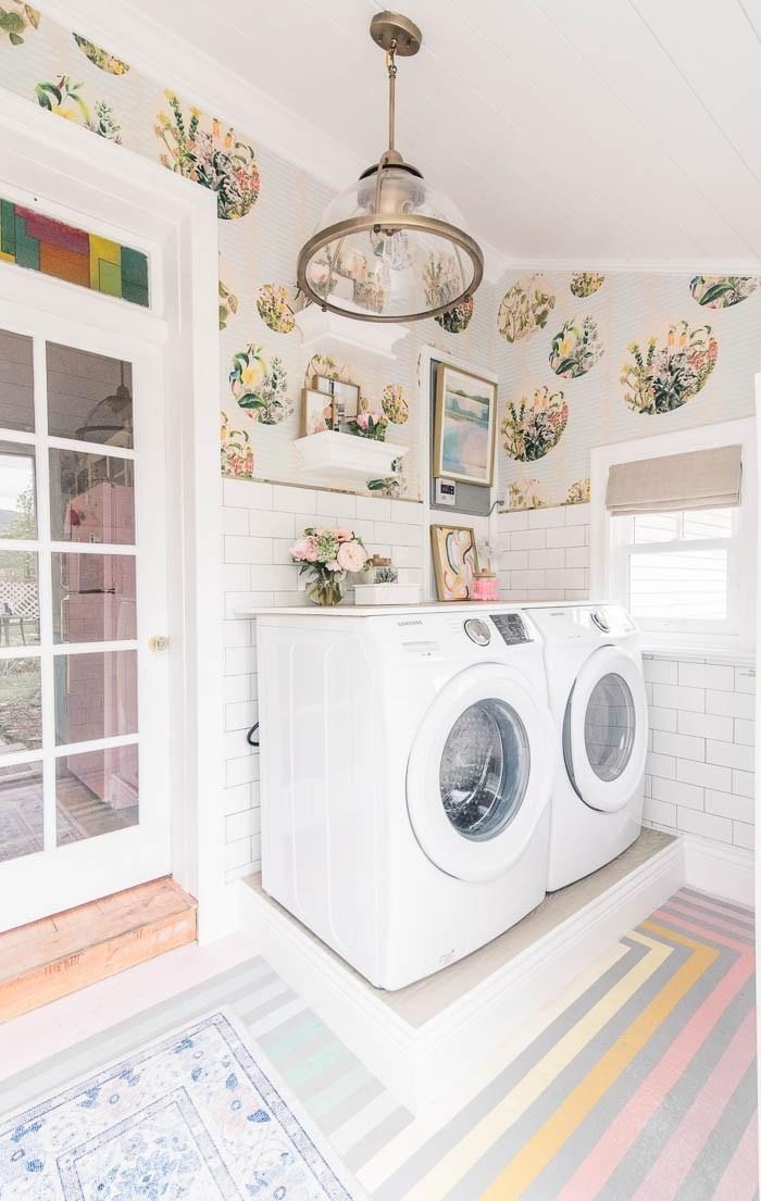 Rainbow laundry room