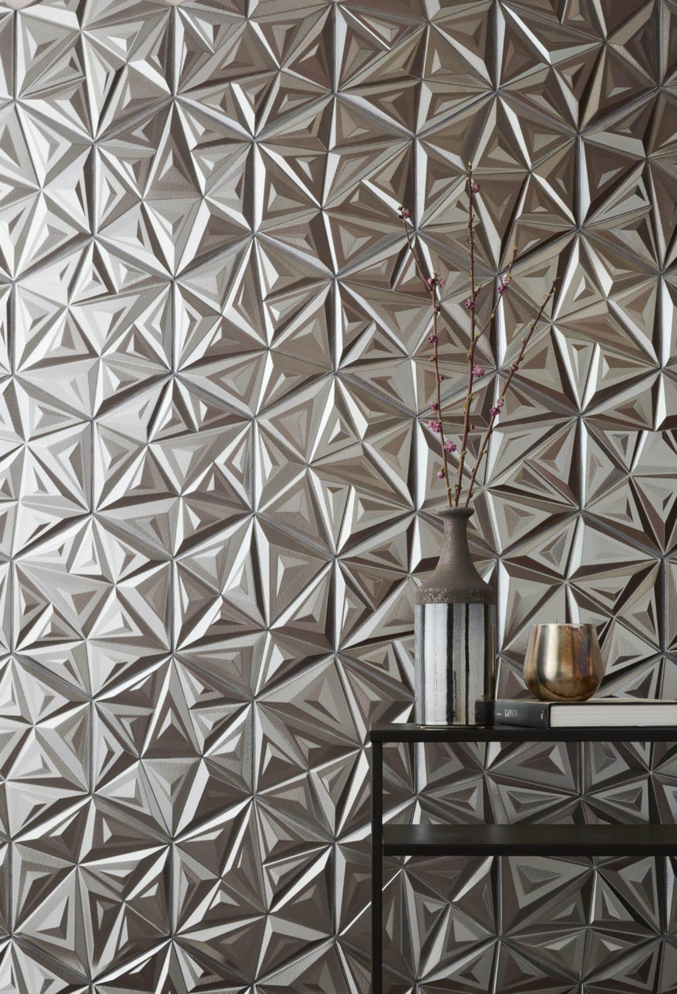 metallic sculptural tile