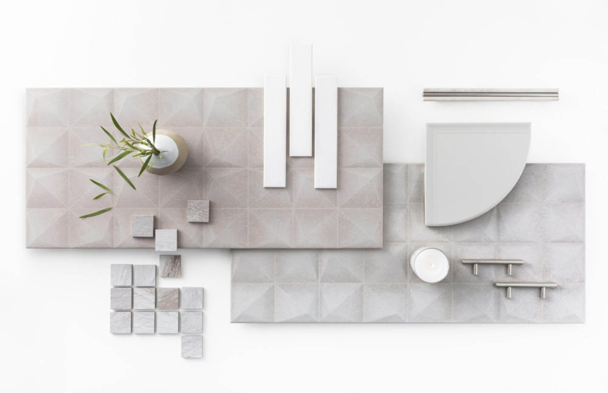 sculptural tile pairings