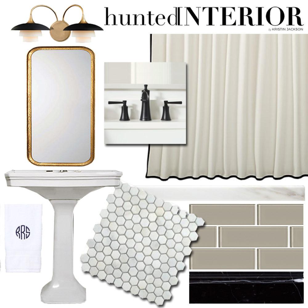 Hunted Interior guest bathroom mood board