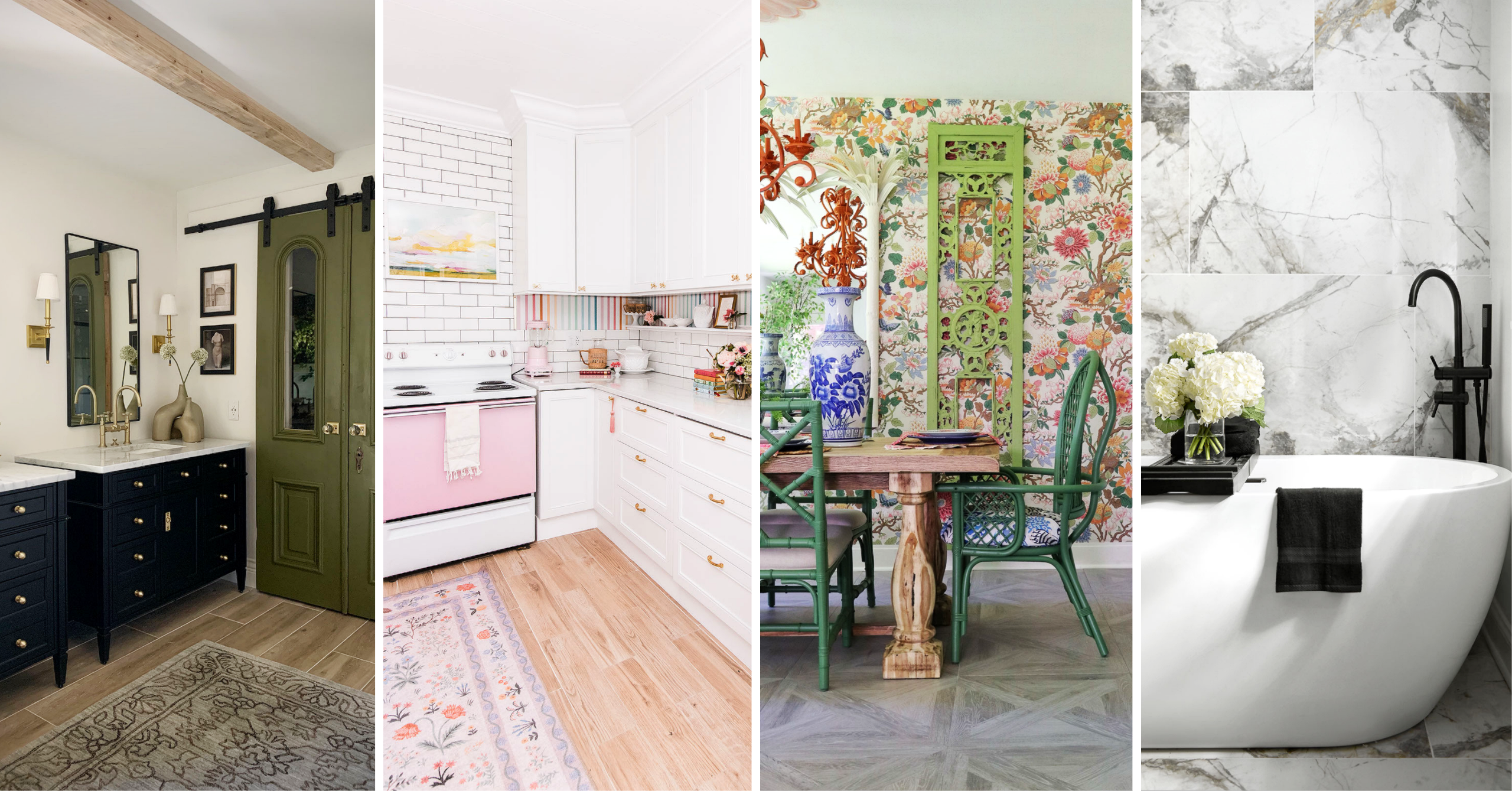 four interior design spaces
