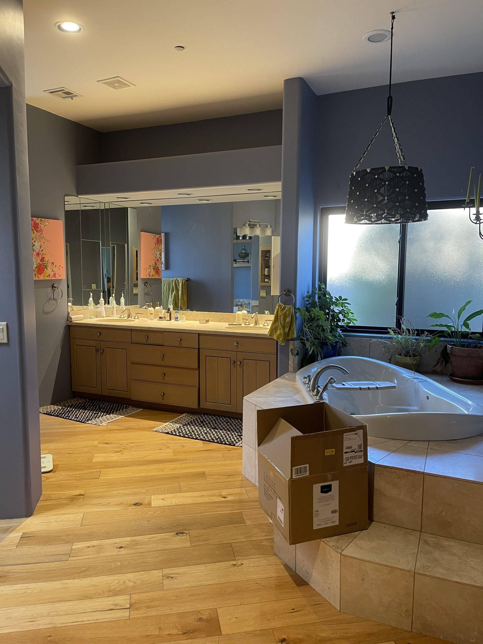 Before bathroom photo One Room Challenge Bari J. Designs